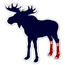 Socks On Moose Sticker Chowdaheadz