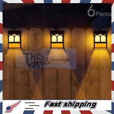 Solar Fence Post Lights Othway Wall Mount Decorative Deck Lighting White For Sale Online Ebay