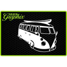 Oracal Beach Bus Vinyl Decal Car Truck Window Sticker Vw Bus Salt Life Sea Ocean