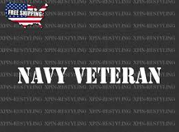 Navy Veteran Windshield Window Vinyl Decal Sticker U S Navy Military 20 Ebay