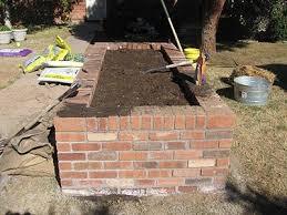brick raised beds brick raised garden
