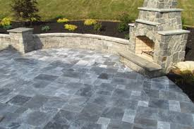 large natural stone pavers patios in