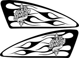 Harley Decals Airbrush Gas Tank Stencils Vinyl Motorcycle Paintings Ideas Biker Art Harley Davidson Art