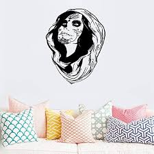 Amazon Com Vinyl Decal Quote Art Wall Sticker Mirror Decal Vampire Zombie Sexy Girl Makeup Gothic Home Kitchen