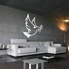 Amazon Com Wall Decal Sticker Vinyl Decor Dove Bird Branch Olive Symbol World M984 Handmade