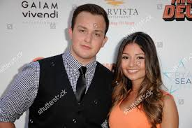 Noah Munck left anf Cristine Prosperi arrive Editorial Stock Photo ...