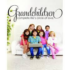 Custom Wall Decal Sticker Grandchildren Complete Life S Circle Of Love Family Grandmother Grandfather Grandma Grandpa Quote 10x20 Walmart Com Walmart Com