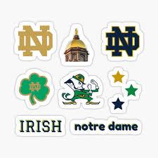 Notre Dame Logo Stickers Redbubble
