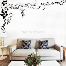 Wonderful Flower Vine Wall Stickers For Home Tv Background Living Room Wall Art 8461 Diy Black Beautiful Pattern Wall Sticker Home Decor Sticker Wall Paperwall Sticker Music Aliexpress