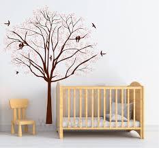 Tree Wall Decals Nursery Pink Tree Sticker White Tree Sticker Etsy