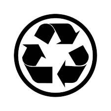 Recycle Trash Sign 6 Vinyl Sticker