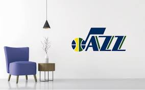 For All The Fans Of Utah Jazz You Can Now Keep The Team S Spirit Alive Even In The Comfort Of Your Home Logo Wall Wall Decals Home Bedroom