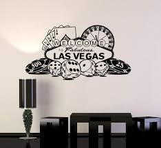 Vinyl Wall Decal Las Vegas Casino Roulette Gambling Gambler Stickers M Wallstickers4you