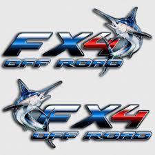 Blue Marlin Fx4 Truck Decals Sport Fishing Charter Stickers