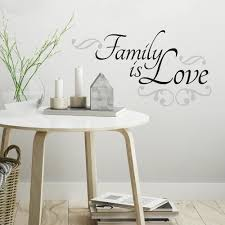 Family Is Love Quote Wall Decals Roommates Decor