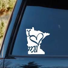 For I Heat Minnesota Sticker Funny Car Window Atmosphere Minneapolis Mn Loverear Window Car Sticker Car Stickers Aliexpress
