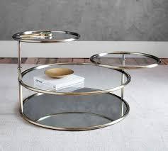 mirrored base gold swivel coffee table
