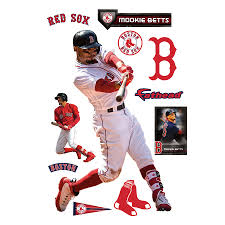 Boston Red Sox Mookie Betts Fathead 11 Pack Life Size Removable Wall Decal