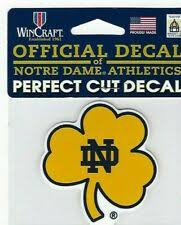 Classy Notre Dame Chrome Metal Auto Emblem Nd Fighting Irish Car Truck Decal For Sale Online Ebay