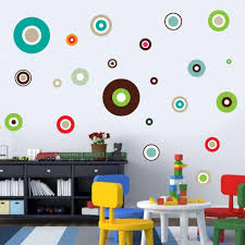 Cartoon Polka Dots Vinyl Wall Stickers For Kids Bedroom Modern Wall Art Wallpaper Home Decor Round Circle Color Decals Removable Buy At The Price Of 7 80 In Aliexpress Com Imall Com