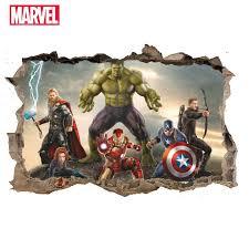 Home Furniture Diy 3d Avengers Marvel Superhero Wall Sticker Iron Man Thor Captain Vinyl Decal Room Wall Decals Stickers Sportcentrumleeuwenbergh Nl