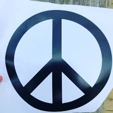 Peace Sign Vinyl Car Window Pumper Sticker Decal Black White For Sale Online