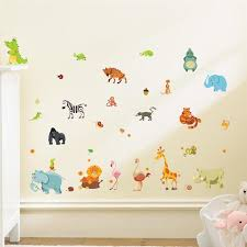 Jungle Animals Wall Stickers For Kids Rooms Safari Nursery Rooms Baby Home Decor Poster Monkey Elephant Horse Wall Decals Adhesive Wall Decals Adhesive Wall Stickers From Qiansuning8 53 59 Dhgate Com