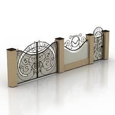 Gate N121111 3d Model 3ds For Exterior 3d Visualization Gates Fences