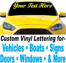 Amazon Com 4 High Custom Vinyl Lettering Design Your Own Decals Stickers Letters Numbers For Cars Trucks Boats Signs Doors Windows And More Kitchen Dining