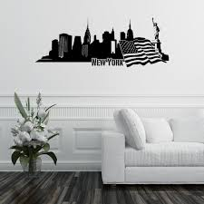 New York Skyline Wall Decal Style And Apply