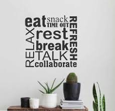 Motivational Office Wall Decal Break Room Word Collage Break Room Decor Word Collage Office Wall Decals