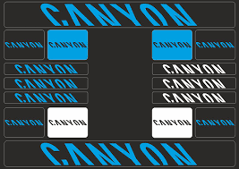 Canyon Mountain Bicycle Frame Decals Stickers Graphic Adhesive Set Vinyl Blue Ebay