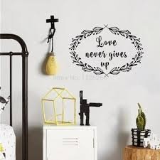 Love Never Gives Up Scripture Vinyl Wall Decal Christian Quote Decor Art Mural For Living Room Bedroom Wallcorners Art Canvas