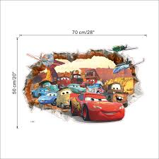 3d Disney Pixar S Cars Wall Decals The Decal House