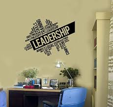 Amazon Com Leadership Vinyl Wall Decal Office Decoration Words Cloud Stickers Mural And Stick Wall Decals Home Kitchen