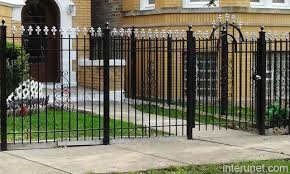 Ornamental Metal Fence With Gate Picture Interunet