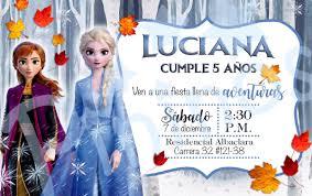 Invitacion Digital Tarjeta Frozen 2 Disney Elsa Y Anna 6 000 En Mercado Libre