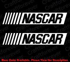 For 2pcs 1 Pair X Nascar Racing Die Cut Vinyl Decal Car Window Nhra Johnson Jeff Rc010 Car Stickers Aliexpress