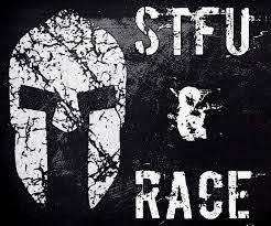 Spartan Helmet Stfu Race Vinyl Decal Sticker Black Gray White Trifecta Ocr Unbranded Vinyl Decal Stickers Black And Grey Vinyl Decals