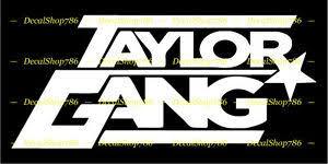 Taylor Gang Tgod Tgoe Vinyl Die Cut Peel N Stick Decals Stickers Ebay