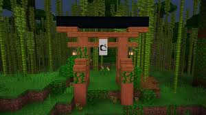 A Japanese Gate Made Out Of Acacia Wood Detailcraft Minecraft Japanese House Minecraft Garden Minecraft Architecture
