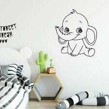 Dumbo The Elephant Blue Contour Cut Decal Vinyl Wall Sticker For Kids Room For Sale Online Ebay