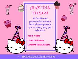 Invitaciones De Hello Kitty Cumpleanos Y Fiestas Infantiles