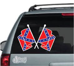 Confederate Flag Car Decals Stickers Decal Junky
