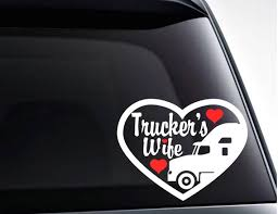 Trucker S Wife Heart Vinyl Decal Sticker Cute Decal For Etsy