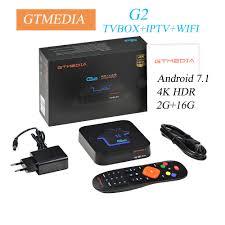 Android 7.1Original GTMEDIA G2 TV Box+IPTV server 4K HDR Ultra HD 2G 16G  WIFI Google Cast Netflix IPTV Set top Box Media Player - aliexpress.com -  imall.com