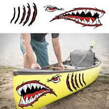 2x Shark Teeth Mouth Decal Sticker For Car Truck Kayak Boat Fishing Graphics Parts Accessories Graphics Decals Romeinformation It