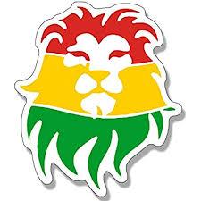 Amazon Com American Vinyl Rasta Lion Head Shaped Sticker Rastafari Afro Weed Pot Reggae Automotive