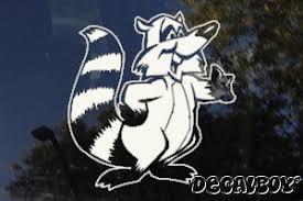 Raccoon Decals Stickers Decalboy