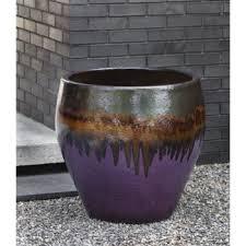 ceramic lorimar planter lava purple